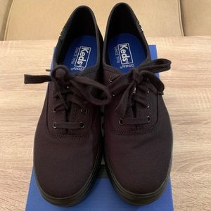 Keds Ortholite Triple Black Platform Shoes